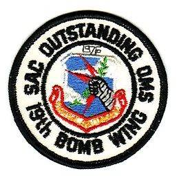 19th BOMB WING SAC OUTSTANDING OMS   U.S.A.F. PATCH