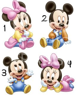 MICKEY MINNIE MOUSE BABY IRON ON T SHIRT FABRIC TRANSFER ALSO STICKERS