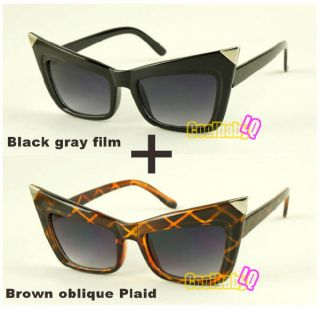 Hot Lady favorite Cat Eyes Face Sunglasses Gaga Shades Plate Frames