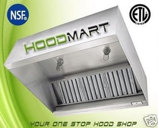 Restaurant Grease Exhaust Hood Stainless Steel Commercial Vent New
