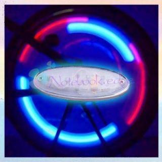 LED Blue/Red Bicycle Bike Spoke Flashing Alarm Light
