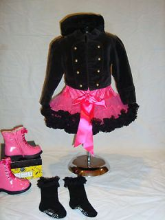 PAGEANT OTR casual wear OOC vintage black military style jacket pink