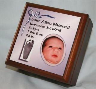 Baby Keepsake Memory Boxes Personalized Photo Gift