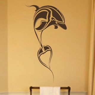 TRIBAL DOLPHIN BATHROOM wall sticker art decal giant tattoo picture