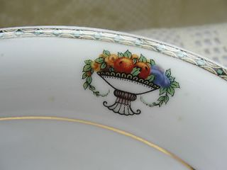 Vintage The Regence Victoria China Czechoslovakia Fruit & Flower Coupe