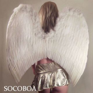 SUPER LARGE White Feather Angel Wings Men Halloween NEW Women Fairy