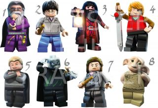 HARRY POTTER LEGO IRON ON T SHIRT FABRIC TRANSFER DUMBLEDORE