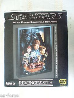Star Wars Revenge Of The Sith Code 3 Movie Poster Sculpture Best Buy