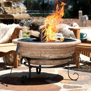 Magnesia Old Frontier Brick 30 Inch Fire Pit   Outdoor Patio Heater