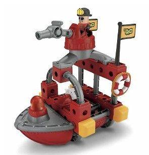 FISHER PRICE   Ages 4 7   Trio Building Set R8868   FIRE RESCUE BOAT