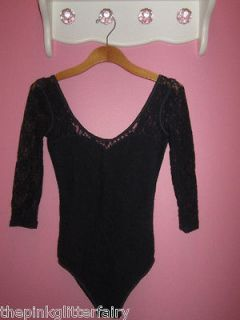 Abercrombie 80s style Navy stretch lace snap button 3/4 sleeve