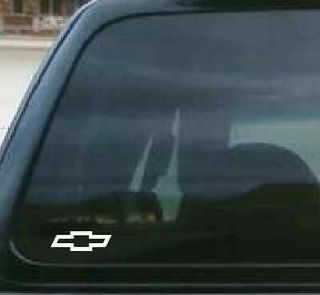 2x Chevy Bowtie Vinyl Decals 3 1/4 L X 1 H ANY COLOR
