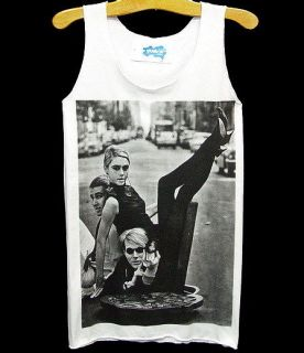 ANDY WARHOL Pop Art Edie Minturn Model Tank T Shirt S/M