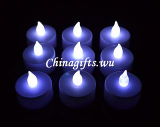LED flickering flameless tea light candle multi choice colors& packing