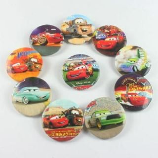 24pcs Disney Car Badges Pins Buttons BOYS Birthday Party Favors Gifts