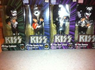 KISS SOUNDALIKES SET OF ALL 4 ANIMATED DOLLS.. NEW IN Box Nib