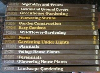 Lot of 14 The Time Life Encyclopedia of Gardening Books