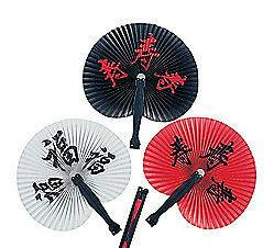 12 CHINESE CHARACTER Paper Hand Fan Outdoor Wedding Asian Theme Party