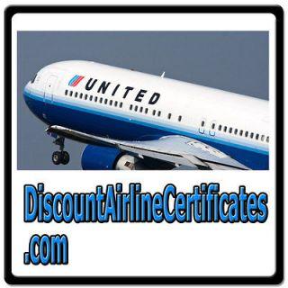 Discount Airline Certificates TRAVEL/AIR VOUCHER/FLIGHTS/TICKETS