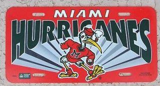 vintage UM University of Miami Hurricanes license plate pipe smoking