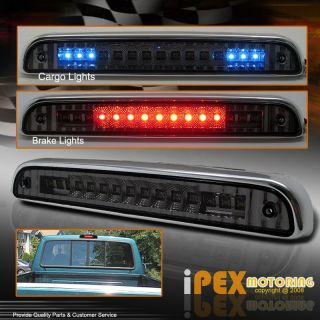 F150 LED Red/Blue Third Brake Tail Light w/LED Cargo Light SMOKE lens