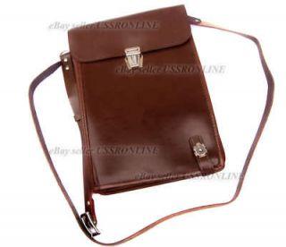Army Officer Uniform Leather Map Document Shoulder Bag Folder New