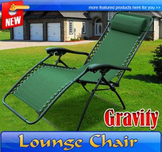 Zero Gravity Chair Folding Recliner Patio Pool Lounge Chairs Outdoor
