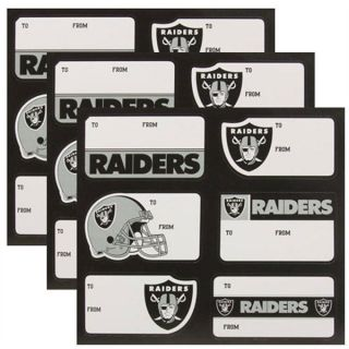 RAIDERS Logo NFL Team Adhesive Holiday Gift Stickers 3 Sheets NEW