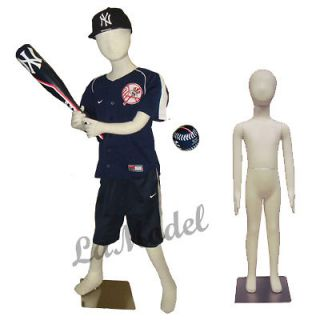 Sport Mannequin Flexible Child Body Forms for Sport Display 5 year old