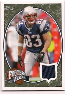2008 Upper Deck Jersey Wes Welker New England Patriots