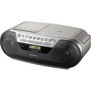 NEW Sony Portable Boombox CD AM/FM Radio Cassette Recorder Player