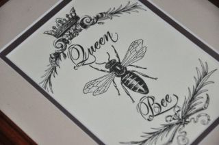 QUEEN BEE Chic Shabby COUNTRY FRENCH Picture Print 8x11