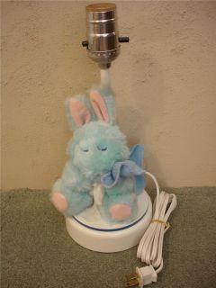 Nursery Originals Blue/Pink Stuffed Animal Bunny Rabbit Nursery Lamp