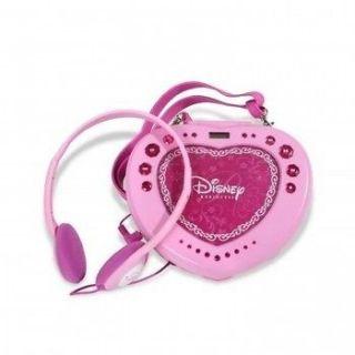 NEW DISNEY PINK PRINCESS HEART SHAPED GIRLS PORTABLE ANTI SKIP CD