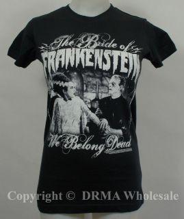 THE BRIDE OF FRANKENSTEIN We Belong Dead Girl Juniors Tee T Shirt S M