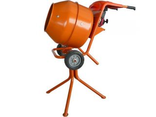 hd portable 5 cubic foot concrete mortar cement mixer 2.5hp gas motor