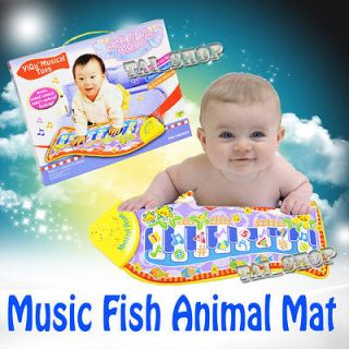 Toy Baby Gift Kid Fish Music Piano Animal Mat Touch Kick Play Fun Mat