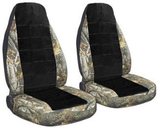 JEEP WRANGLER CAR SEAT COVERS REAL TREE CAMO and BLACK COMBINATION