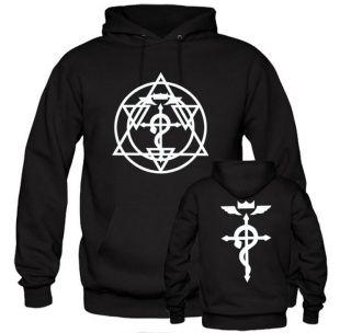 FMA Full Metal Alchemist Edward Alphonse Cross costume hoodie jacket