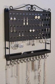 Wall Jewelry Organizer Necklace Holder Storage Rack Multi Purpose