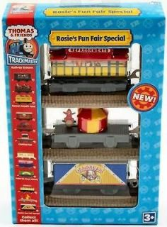 HIT TRACKMASTER THOMAS ROSIES FUN FAIR SPECIALS CARRY CAR SET RARE