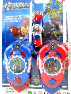 Avengers Walkie Talkies Iron man Thor hulk freetalker two way & spider