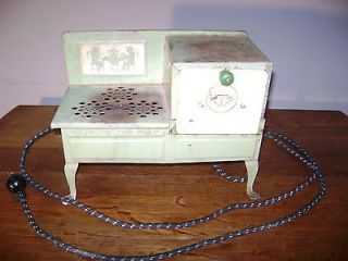 Vintage Electric EMPIRE Late 1930s Toy Stove, Works Great!