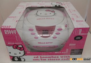 Hello Kitty KT2028A CD AM/FM Cassette Play/Record Stereo Radio