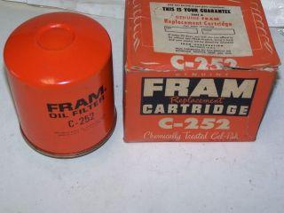 FRAM Oil Filter #C252   1940 1975 Oliver Tractor L4 & L6 cylinder
