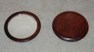 HOLIDAY SPECIAL  Rose Wood Round Beveled Mirror (Made in the USA)