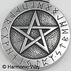 Jali Cut THEBAN RUNIC PENTACLE PENDANT wicca rune
