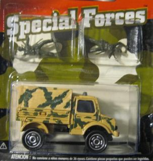 MAJORETTE SPECIAL FORCES ARMY UNIMOG TRUCK WITH 2 FIGURES