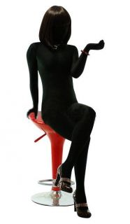 Womens Black Full Body Lycra Spandex Zentai Suit S XXL ZB04