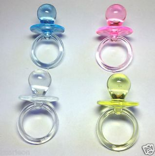 Clear Pacifiers Baby Shower Party Game Decoration Favors U Pick